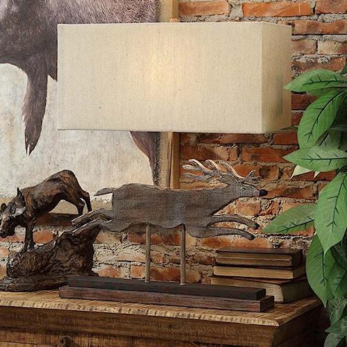 Crestview Collection Lighting Deer Run Table Lamp