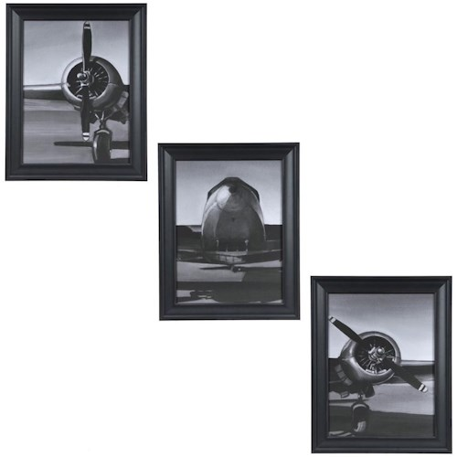Crestview Collection Prints and Paintings Vintage Flight 1,2 3 (Set)