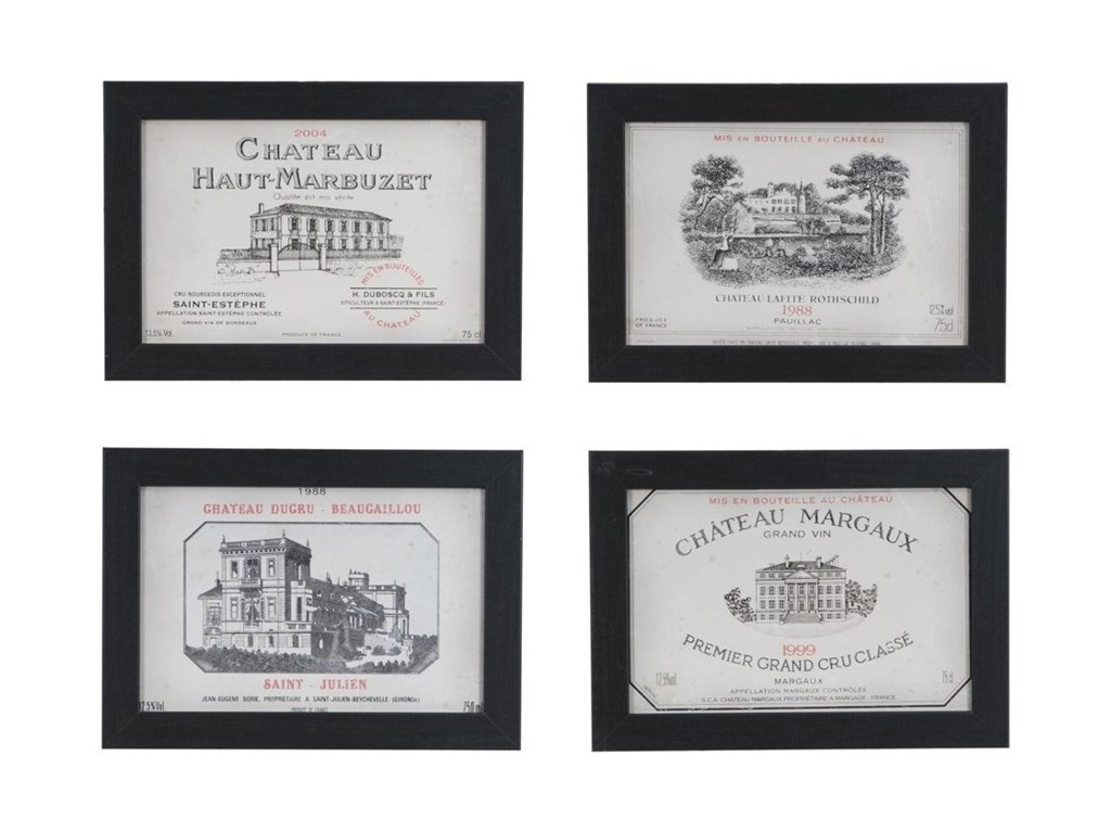 Crestview Collection Prints and PaintingsVintage Wine Set 4