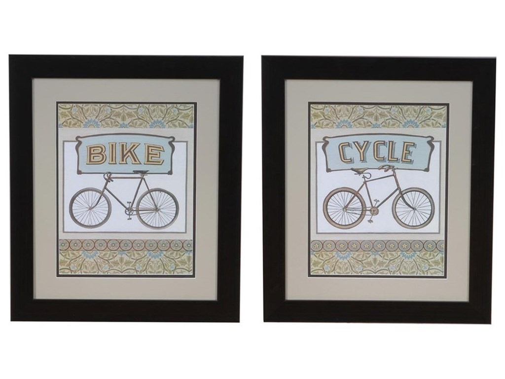 Crestview Collection Prints and PaintingsCycle & Bike Set 2