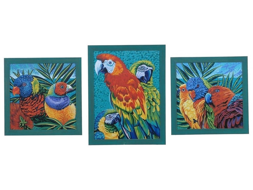 Crestview Collection Prints and PaintingsBirds In Paradise 1,2,3 (Set)