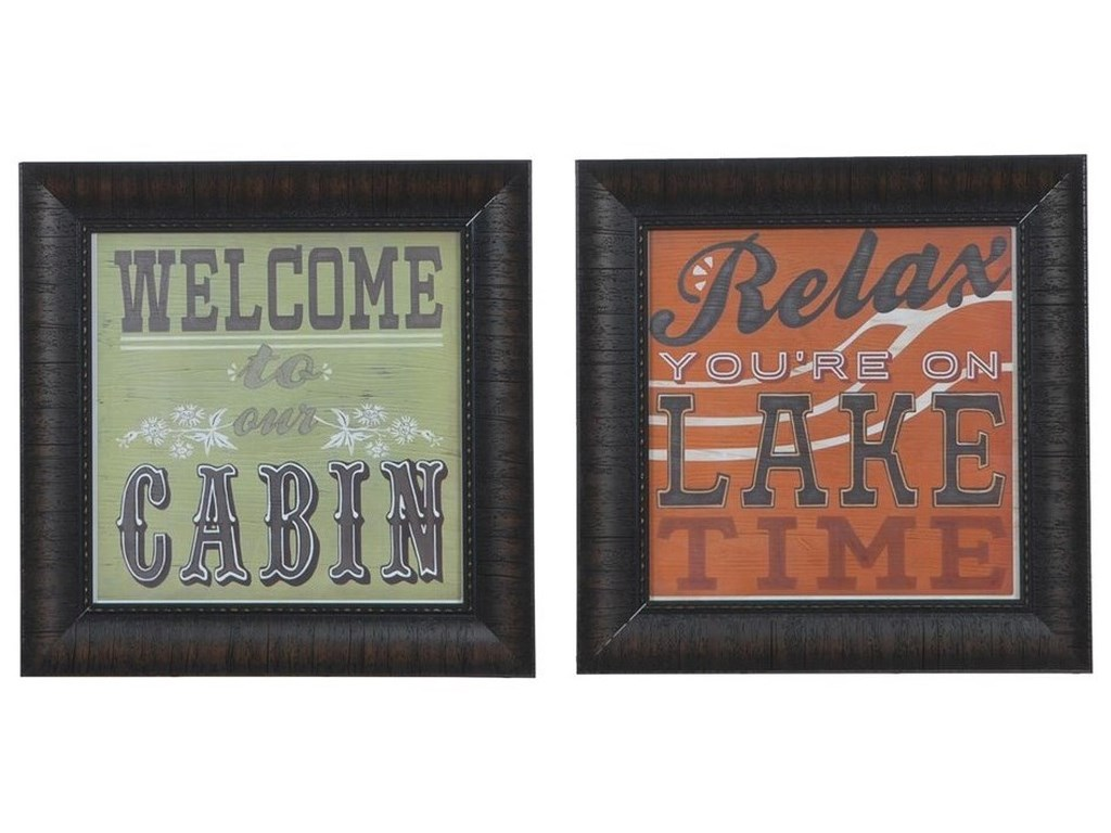 Crestview Collection Prints and PaintingsCabin Life 1 & 8 (Set)