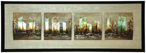 Crestview Collection Prints and Paintings City Divide