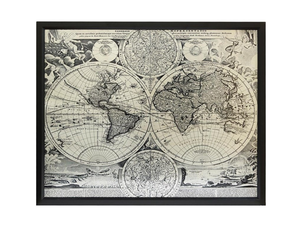 Crestview Collection Prints and PaintingsWorld Map