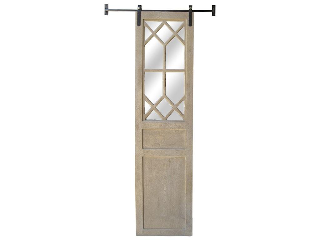 Crestview Collection Wall DécorRustic Decorative Barn Door Mirror