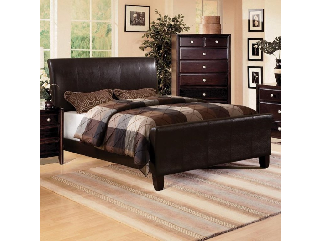 Bed Shown May Not Represent Size Indicated. Shown with Claret Chest.