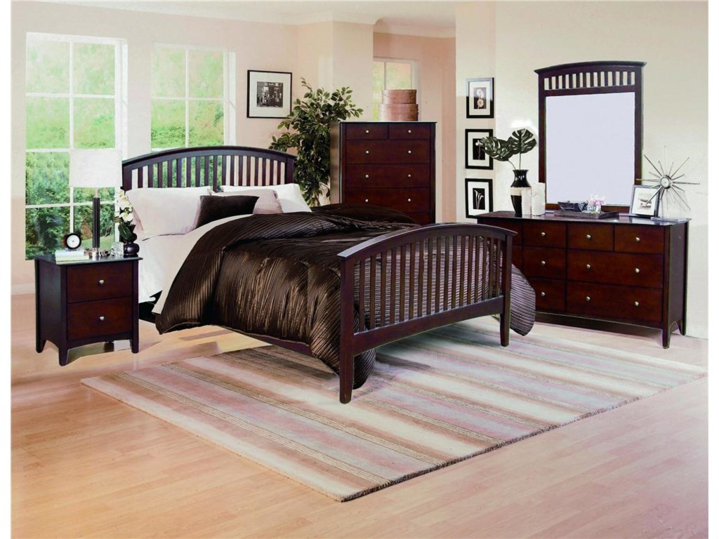 Crown Mark Lawson B755 Four Piece Bedroom | Dunk & Bright Furniture ...