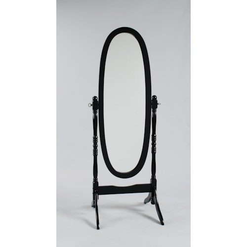 Crown Mark 2070 Oval Shaped Cheval Dressing Mirror