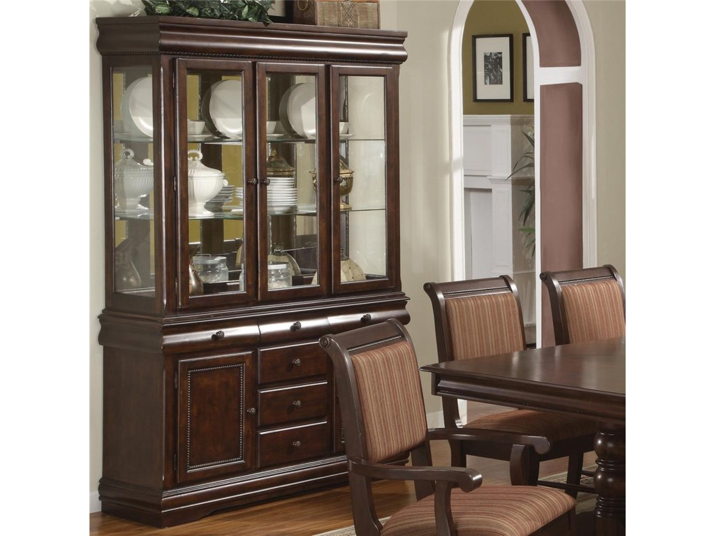 Shown with Buffet Hutch to Create a China Cabinet