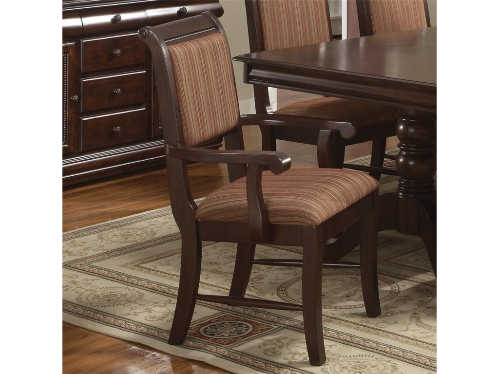 Crown Mark MerlotDining Arm Chair