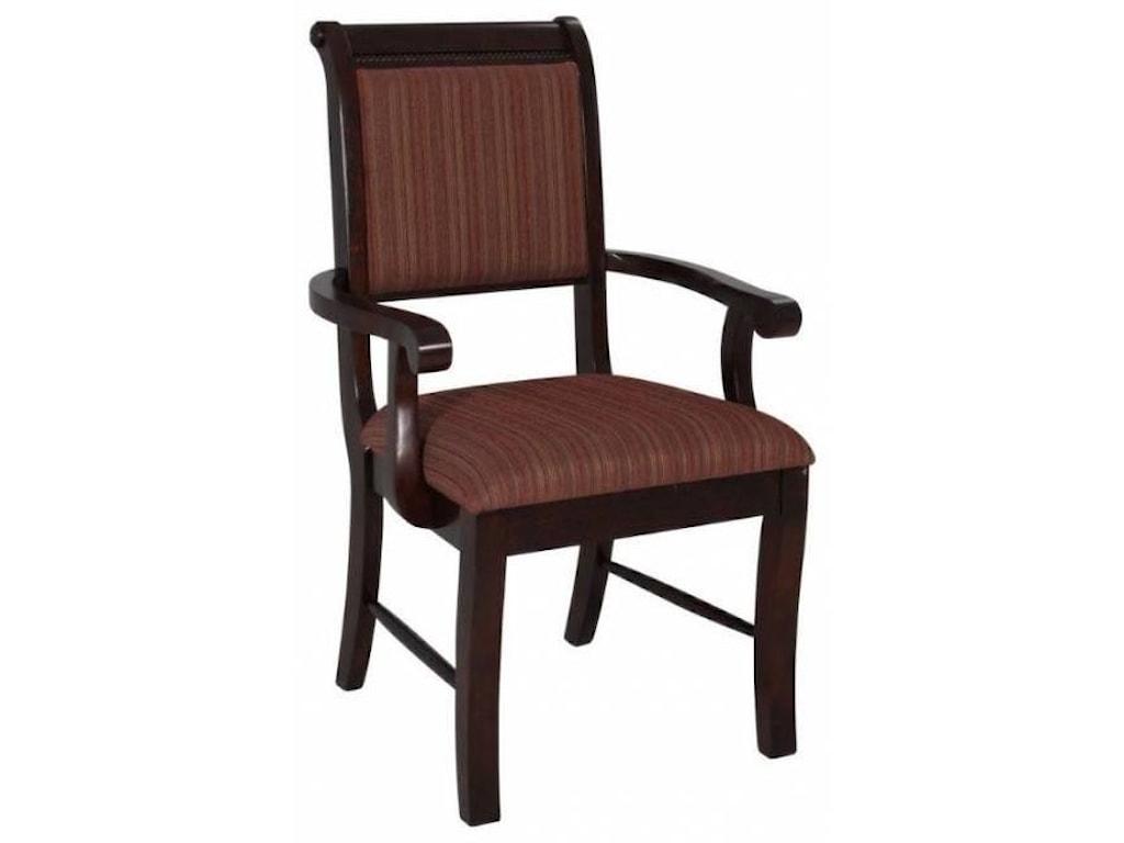 Royal Fair MerlotDining Arm Chair
