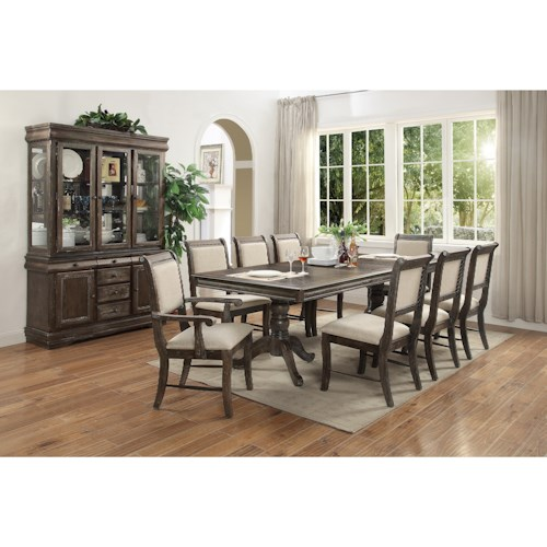 Crown Mark Merlot Formal Dining Room Group