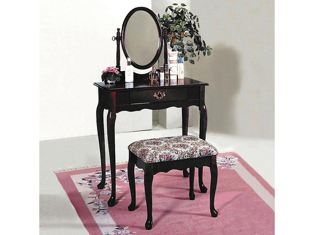 Crown Mark 2200Vanity Table & Stool