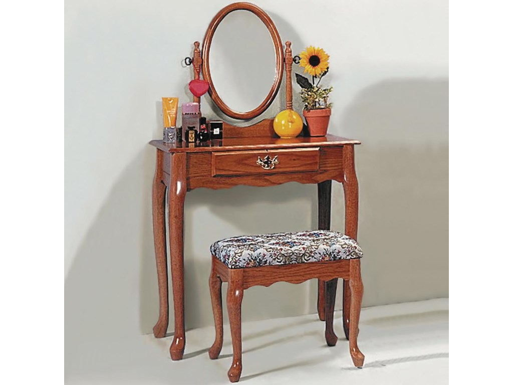 Collection # 1 2200Vanity Table & Stool