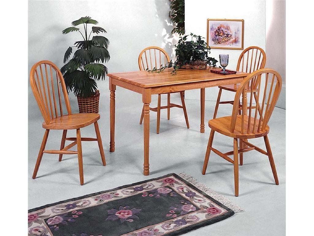 Crown Mark FarmhouseRectangular Table and Chair Set