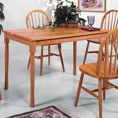 Crown Mark Farmhouse Rectangular Dining Table with Turned Legs