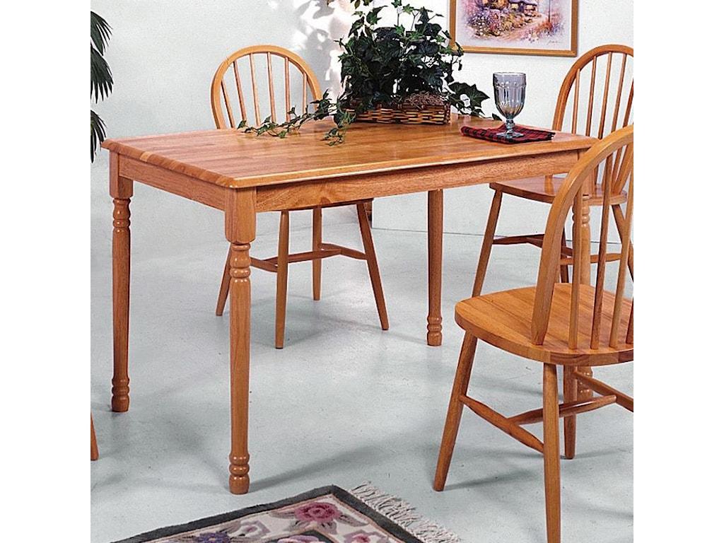 Crown mark farmhouserectangular dining table