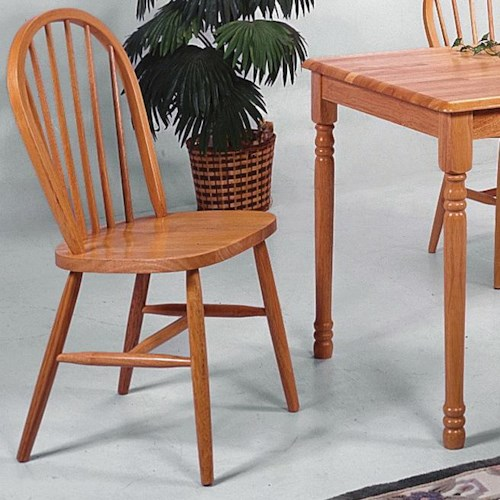 Crown Mark Farmhouse Dining Slat Back Side Chair