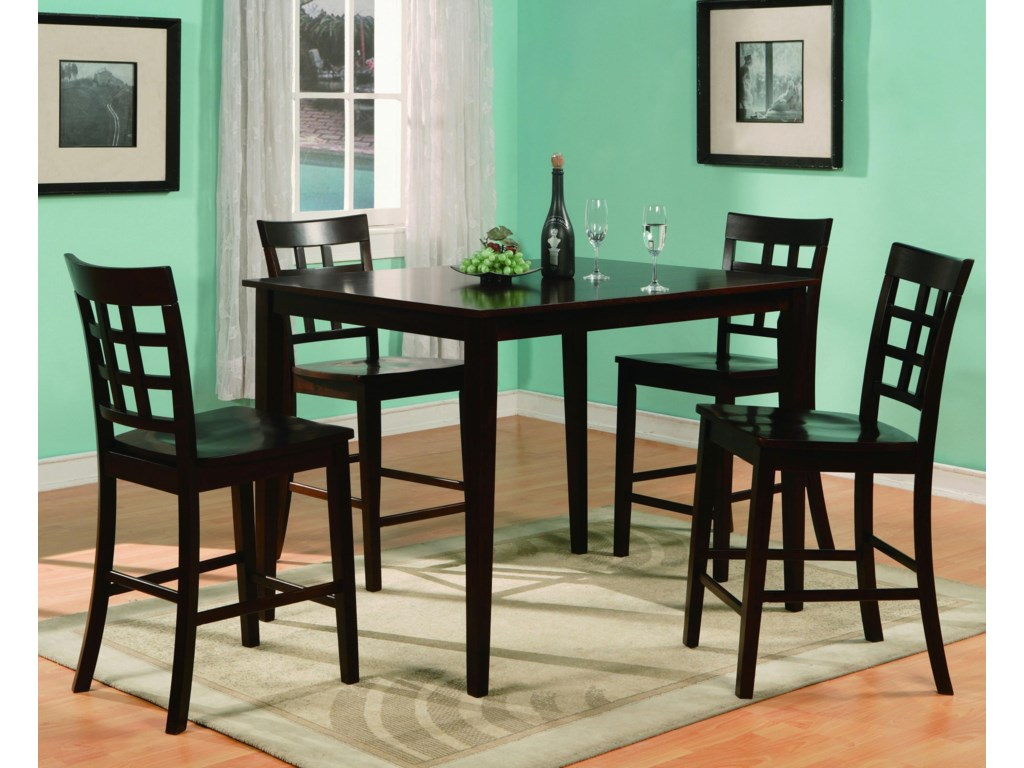 Crown Mark Austin5 Piece Counter Table & Chair Set