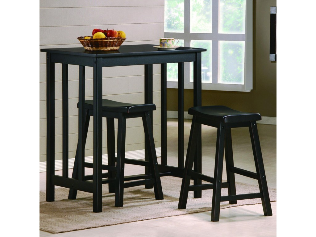 Crown Mark Dina3 Piece Counter Height Table & Stool Set