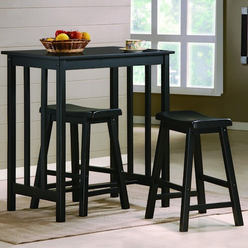 Crown Mark Dina 3 Piece Counter Height Table & Stool Set