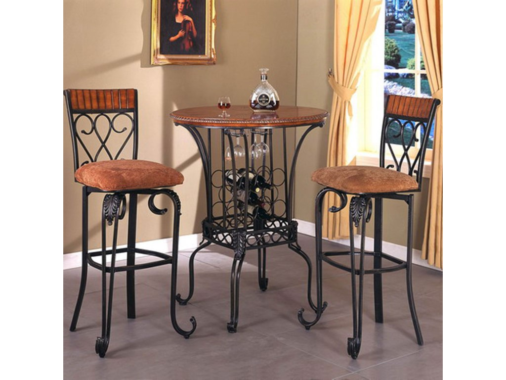 Crown Mark Alyssa3 Piece Bar Table Set