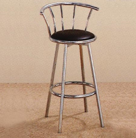Crown Mark 4077 Upholstered Metal Swivel Stool