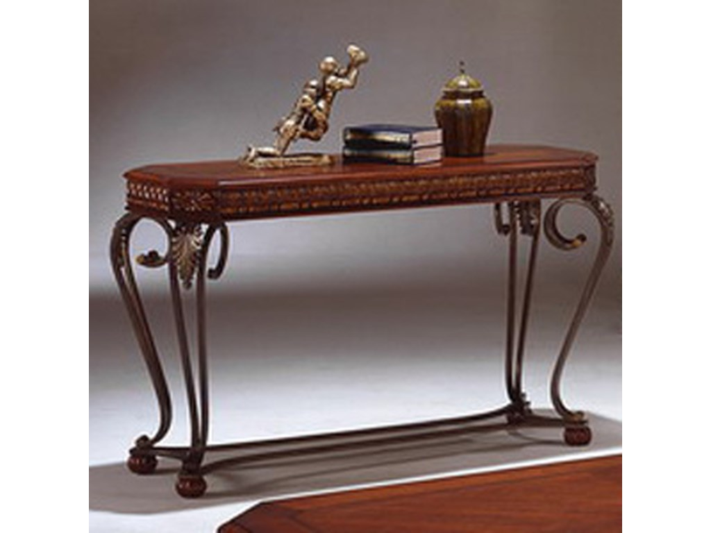 Crown Mark ClairmontWood and Metal Sofa Table