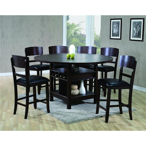 CM Conner  5 Piece Counter Height Dining Set