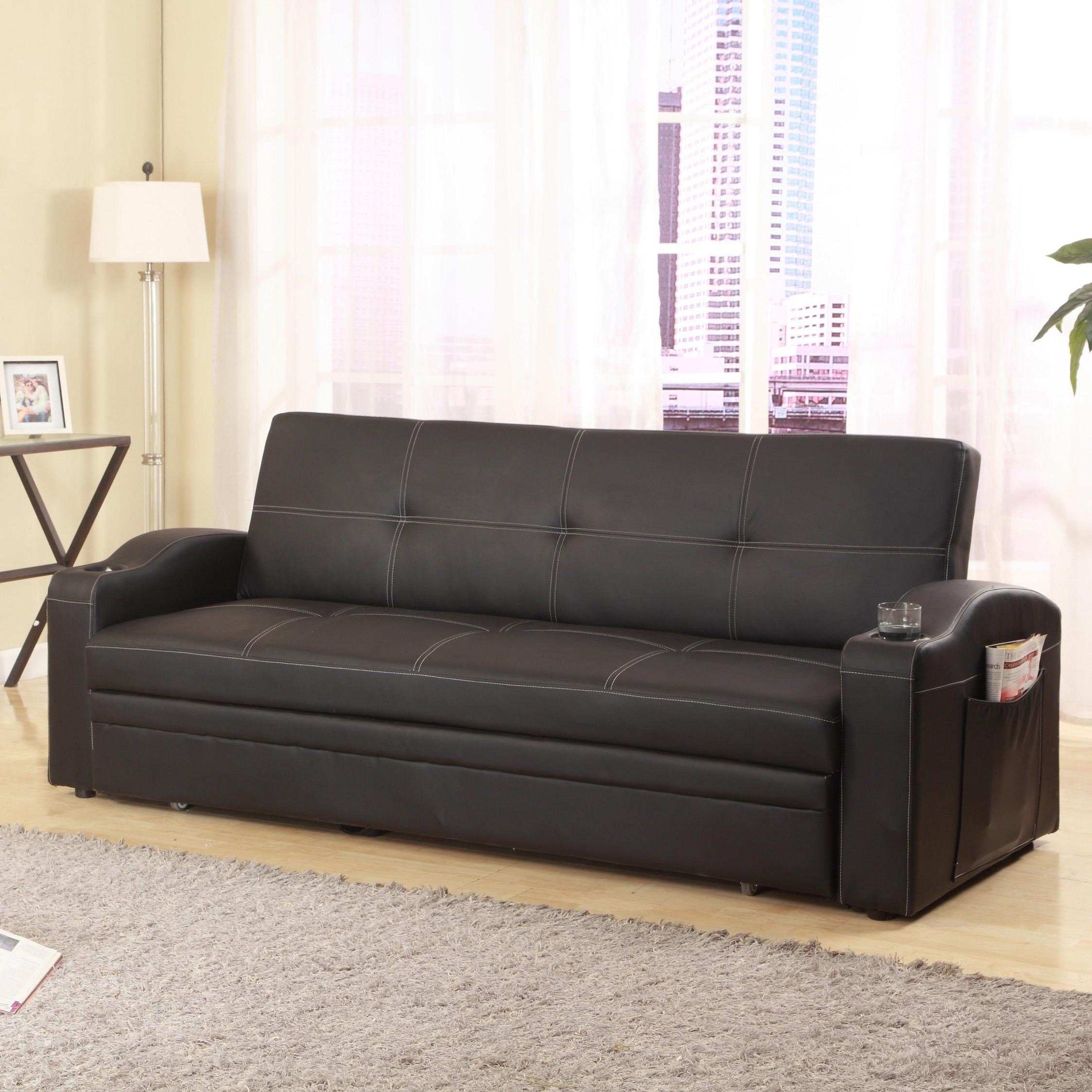 Easton Adjustable Sofa with Cup Holders and Pull-Out Bed