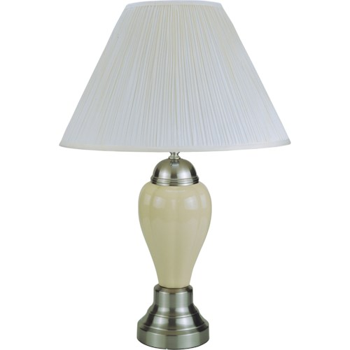 Crown Mark 6115 Transitional Ivory Table Lamp