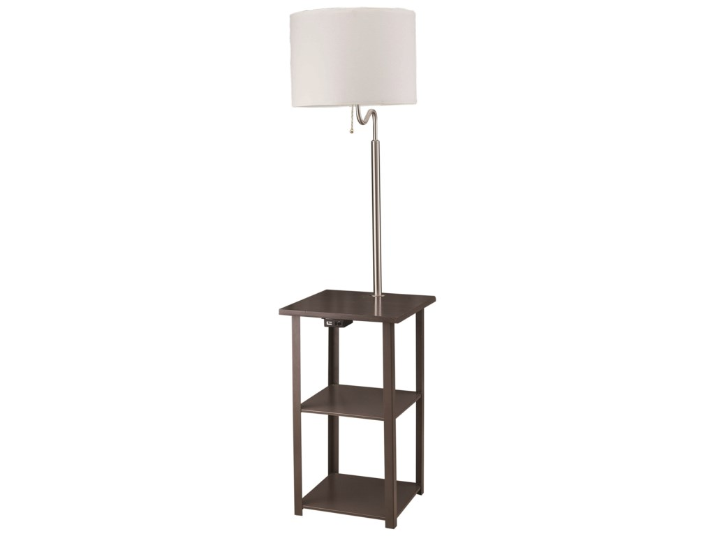 Crown Mark Furniture 6246Square Table Floor Lamp