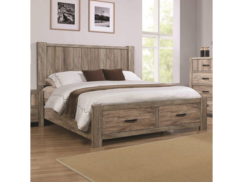 Crown Mark AbbotCalifornia King Storage Bed