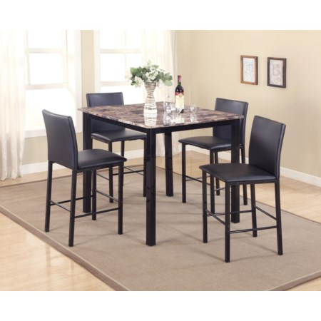 5 Piece Counter Height Dinette Set
