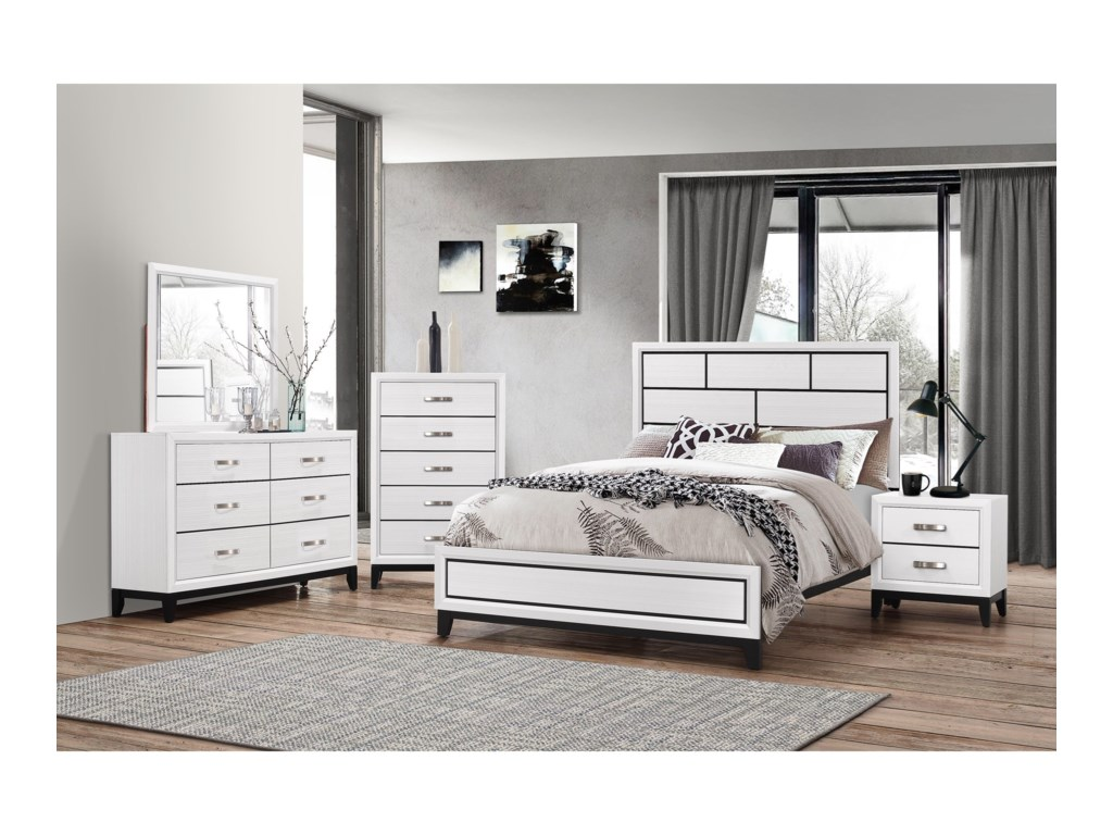 Crown Mark AkersonKing Bedroom Group