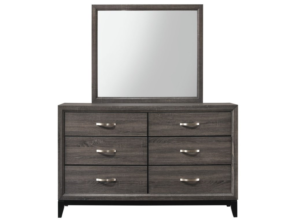 Crown Mark AkersonDresser + Mirror Set