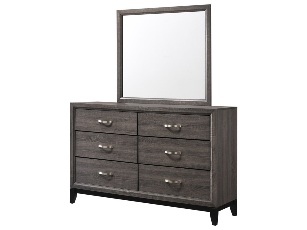 Crown Mark AkersonDresser and Mirror Set