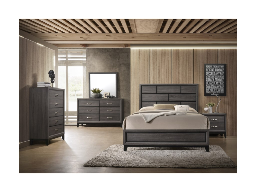 Crown Mark AkersonTwin Bed