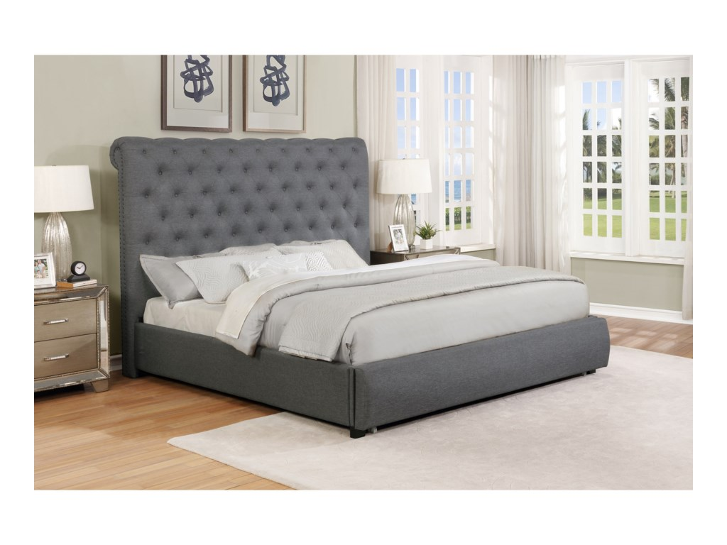 Crown Mark AllieKing Storage Bed
