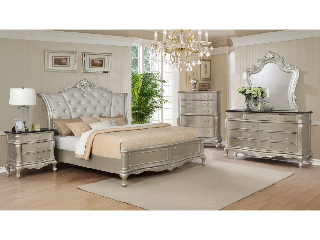 Crown Mark AngelinaKing Bedroom Group