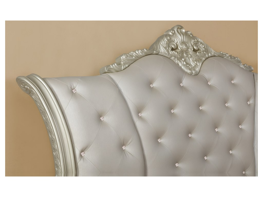 Crown Mark AngelinaCalifornia King Upholstered Sleigh Bed