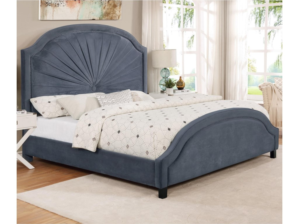 Crown Mark AnnetteQueen Upholstered Bed