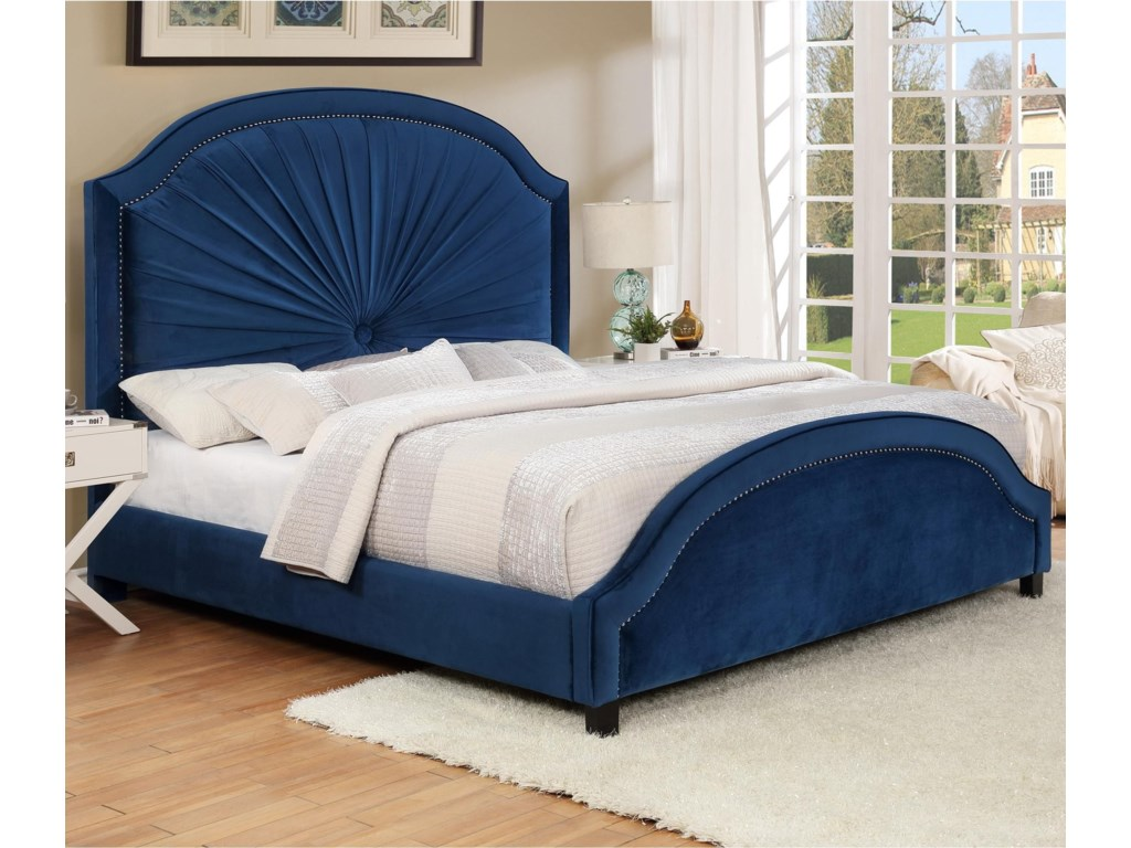 Crown Mark AnnetteKing Upholstered Bed