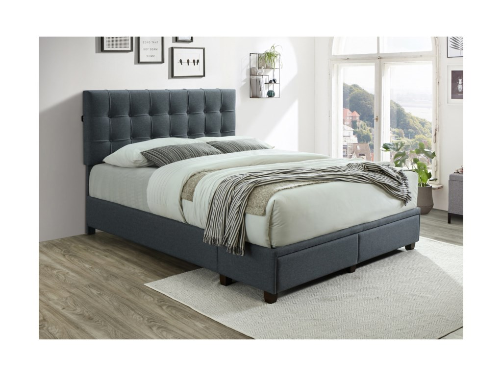 Crown Mark AntoineKing Platform Bed with USB Ports