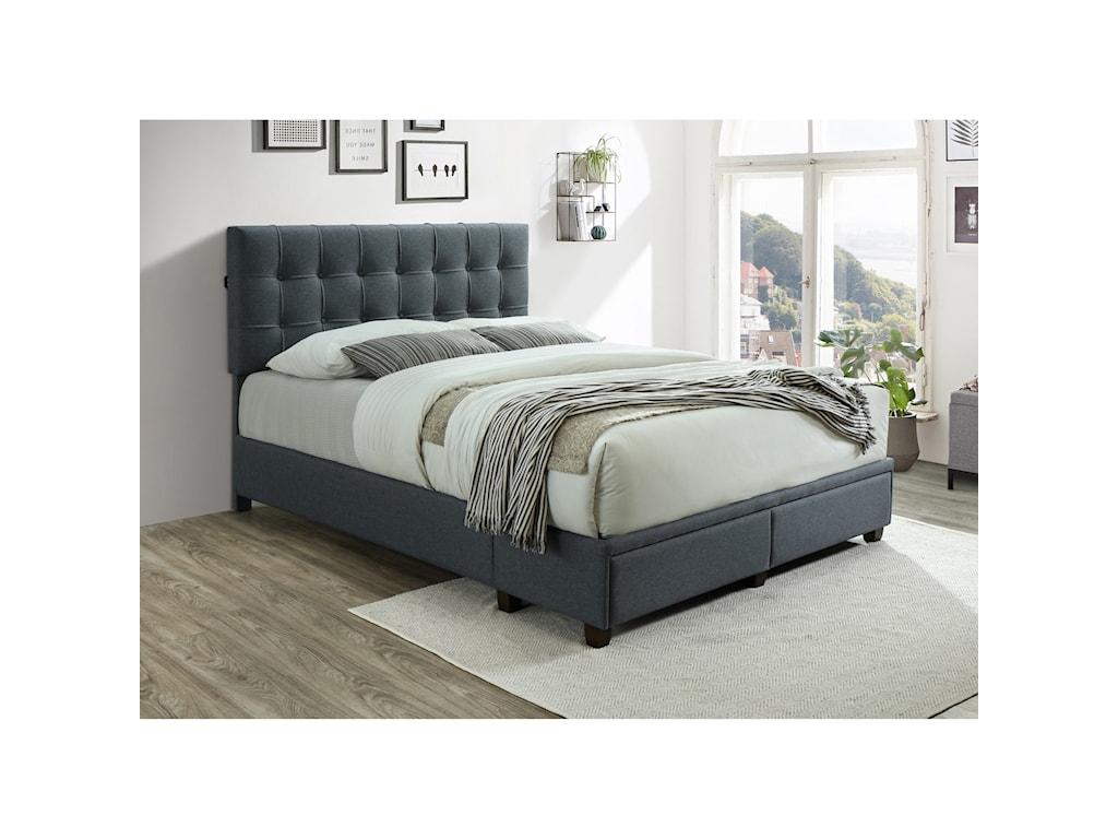 Crown Mark AntoineQueen Platform Bed with USB Ports