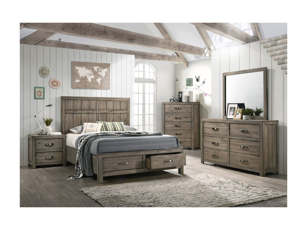 Crown Mark ArcadiaKing Bedroom Group