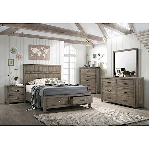 Crown Mark Arcadia King Bedroom Group