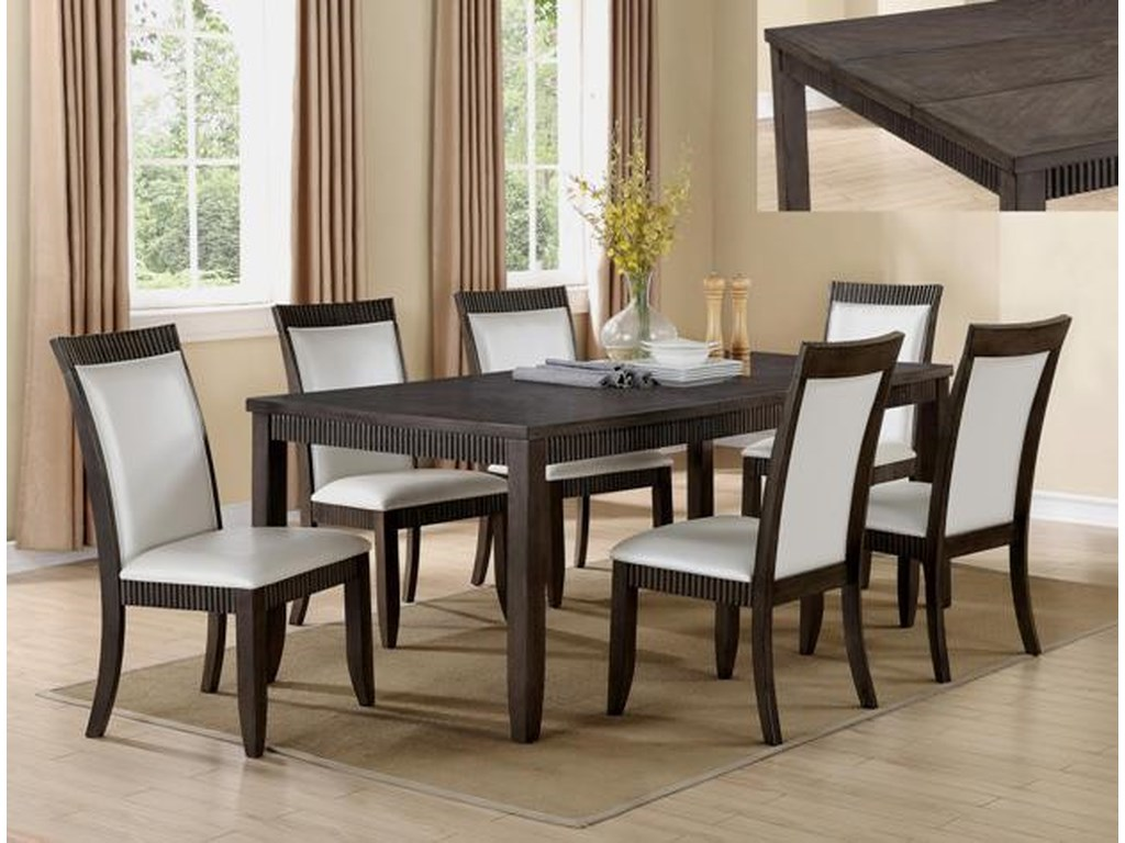 Crown Mark Ariana7 Piece Table and Chair Set
