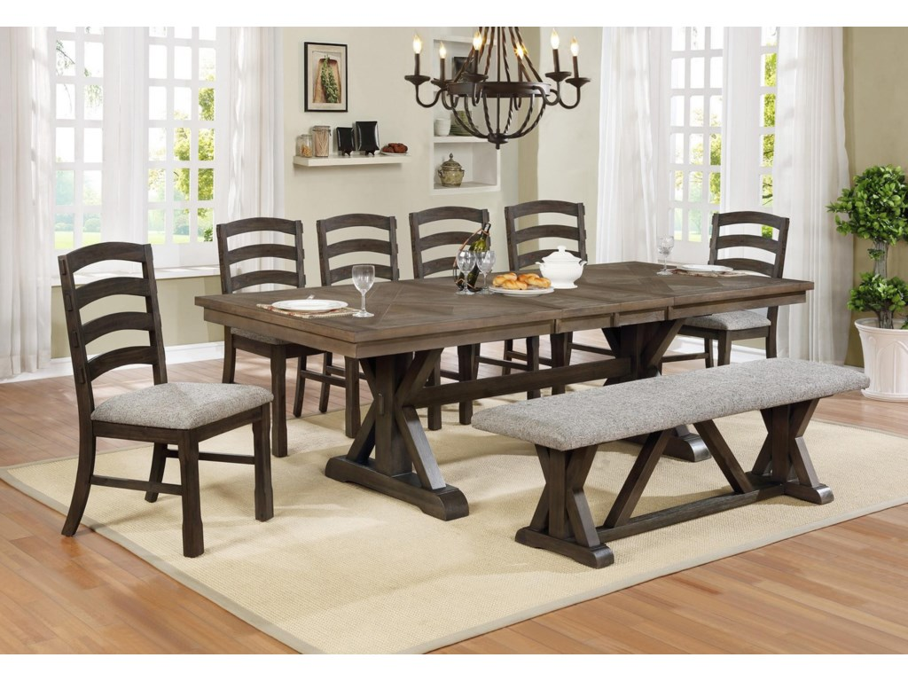 Crown Mark Armina5 Piece Table and Chair Set