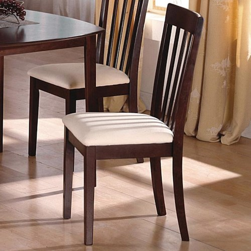 Crown Mark Ashland Dining Side Chair with Slatted Back